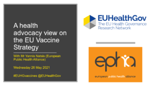 Welcome slide for vaccines event